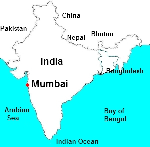 mumbai location map